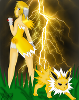 Jolteon's Thunderstorm by kiiechan