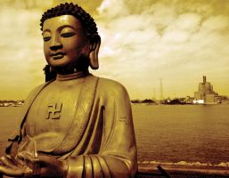 Buddha At The River's Edge by vanfoto