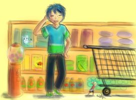 At the grocery store by Friendlyfoxpal