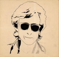1988 unfinished John Lennon by Pabloramosart