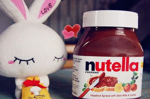Nutella and My Love-chan Bunny by clera02