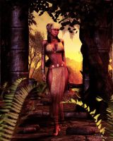 Priestess of the Golden Suns by vaia