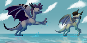 Playing at the Beach by n-Night-Star-n