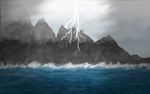Lightning mountain by Maverickov