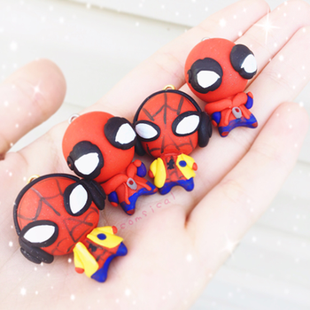 spiderman homecoming chibis by Comsical