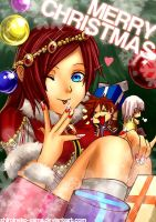 KH: Christmas Glitter Princess by ShiroiNeko-sama