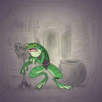 Angela's Magic Lesson - That Croak's Not Funny by Mr-DNA