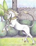 Unicorn 2- Heraldic by who-stole-MY-name