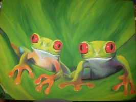 Curious Frogs by Myrcury-Art