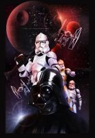 Star Wars Poster by Wolfgan