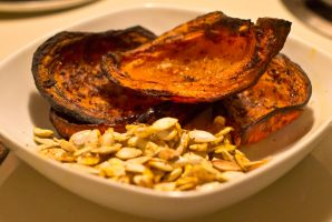 Roasted Acorn Squash and Seeds by Amber3791