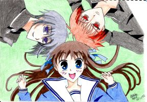 Fruits basket by Claybirdies