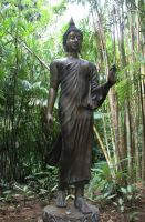 Statue in Jungle by Cynnalia-Stock
