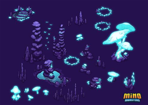 MinoMonsters Cave Assets by hellcorpceo