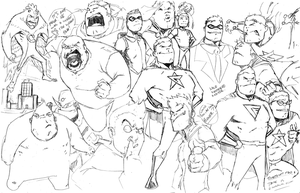 Captain Awesome characters sheet! by demonplague