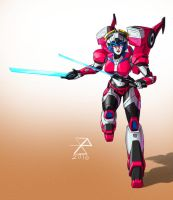 Transformers - Arcee/Windblade Fusion by synth-brave
