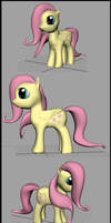 [OLD AND CRAPPY] Fluttershy Model by Lekonua