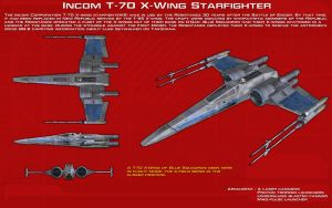 Incom T-70 X-Wing Starfighter ortho [2][Update] by unusualsuspex