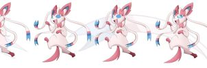 Colouring Sylveon by KairouZ
