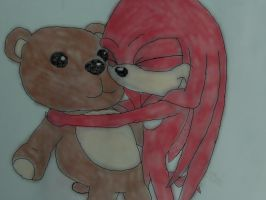 Little Knuckles and His Teddy by craZ4knux