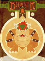 Bowser - Minimalist Poster by M-Thirteen