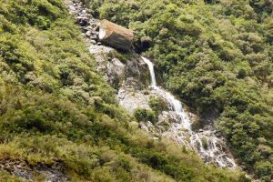 NZ Waterfall on mountain side by Chunga-Stock