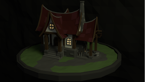 low poly blacksmith building by Rens224