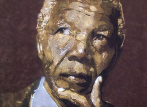 Nelson Mandela on BrownVelvet by YourArtTeacher