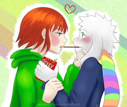 Storyshift 3 Pocky Game Chasriel ver. by vanillaxbiscuit