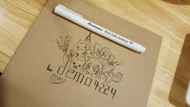 My new doodle art! (WIP) by demo4224