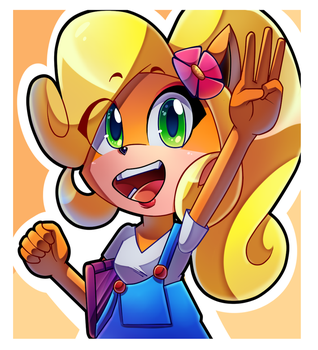 Coco Bandicoot [SpeedPaint] by CuteyTCat