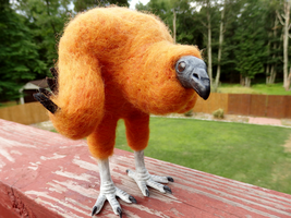 Black Vulture Chick Art Doll by DancingVulture