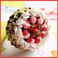 Strawberry and Cream Cake Ring by cherryboop