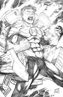 Green Lantern Pencils 2013 by hanzozuken