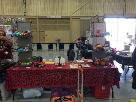 Tokyo in Tulsa 2015 Booth Set up 1 by KyouyasKritters