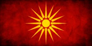 Macedonia Grungy Flag by think0