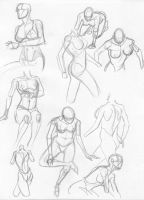 more quick female sketches by igm-transformer