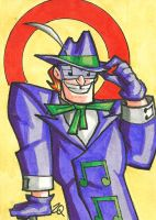 Music Meister Sketch Card by ibroussardart