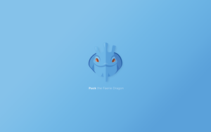 Puck - minimal Dota 2 wallpaper. by PeterPan-Syndrome