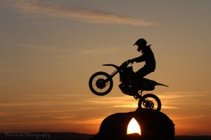 Dirtbike Sunset by Kaptive8