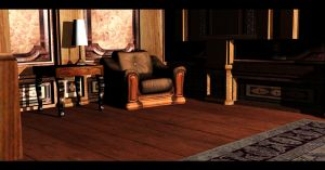 Library Room 3 | Croft Manor. by Rockeeterl