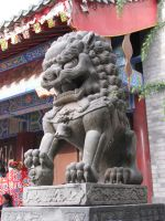 Chinese Male Lion Statue 02 by Ghost-Stock