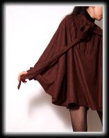 Brown Coffee Batwing Cloak 2 by yystudio