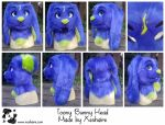Bunny Fursuit Head +New video! by Xeshaire
