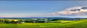 Panorama Dittersdorfer Hoehe by drdrevil