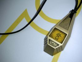 Digimon Tag with TK's Crest of Hope (view 1) by ChinookCrafts