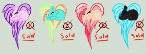 Adoptable Ponies in Hearts~10 points {CLOSED} by Kooliokatz