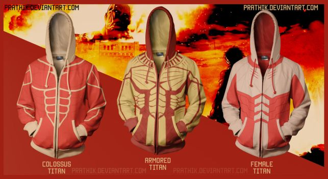 Attack on Titan(s) / Shingeki no Kyojin Hoodies by prathik