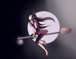 Broomsticks n Stars by sillyapple