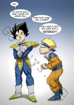Vegeta vs Naruto by SupaCrikeyDave